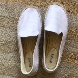 White Soludos shoes